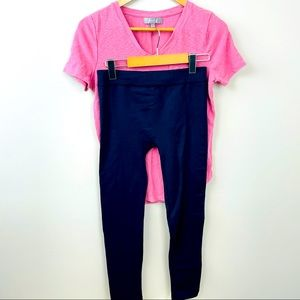 Pink and navy outfit! Gently used condition.Size M